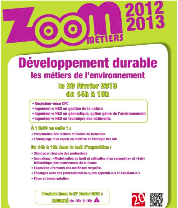 Zoom métier développement durable.